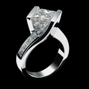 jewellery ring engagement diamond set shadow platinum ctw rings cut french for women halo in jp round