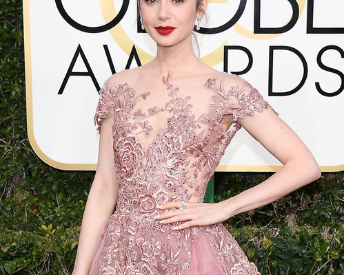 Lily Collins in Harry Winston